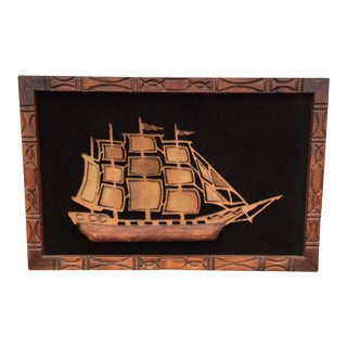 Witco Torch Cut Wall Ship Sculpture For Sale