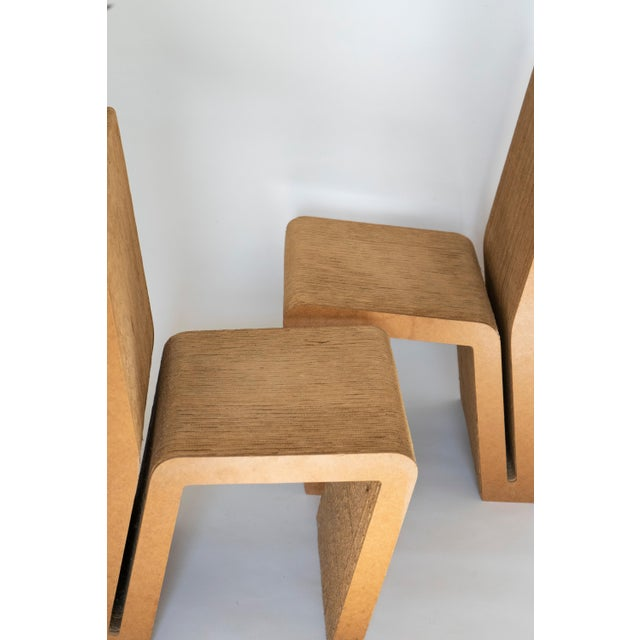 Brown Easy Edges Cardboard Chair by Frank Gehry, Early 1970s Model For Sale - Image 8 of 11