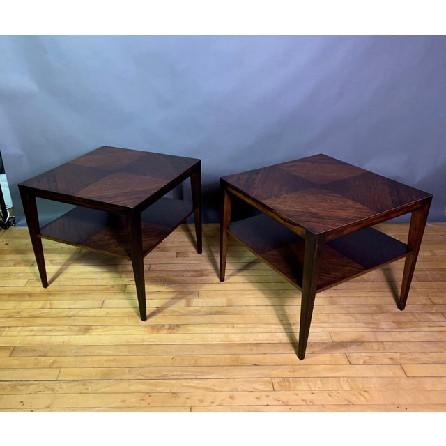 Pair Isaac Teperman Brazilian Rosewood Side Tables, 1950s For Sale - Image 10 of 11