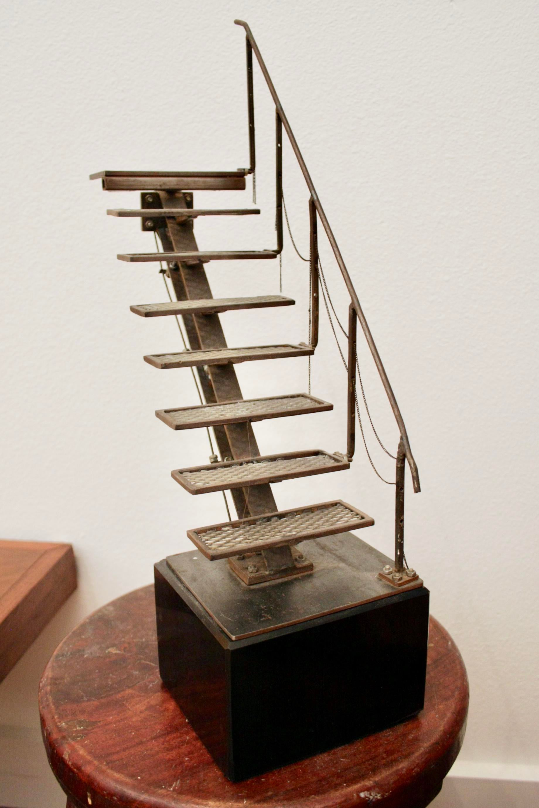 Antique Hand Welded Architectural Stair Model For Sale   Image 4 Of 13