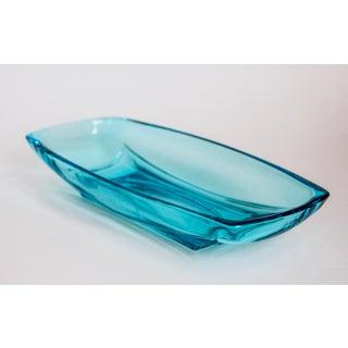 Mid Century Modern Aqua Blue Serving Glassware 1960's by Hazel Atlas - 10 Piece Set Preview