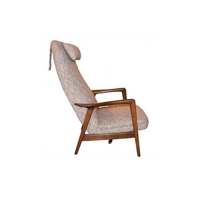 Mid-Century Modern Folke Ohlsson Mid-Century Chair & Ottoman For Sale - Image 3 of 7