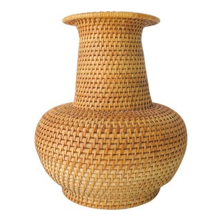 Woven Vase Shaped Basket For Sale