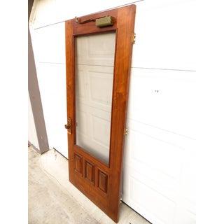 Mid Century Modern Custom Made Walnut Screen Door Preview