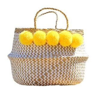 """Brunna """"Borrego X Borneo No. 2"""" Boho Basket For Sale"""