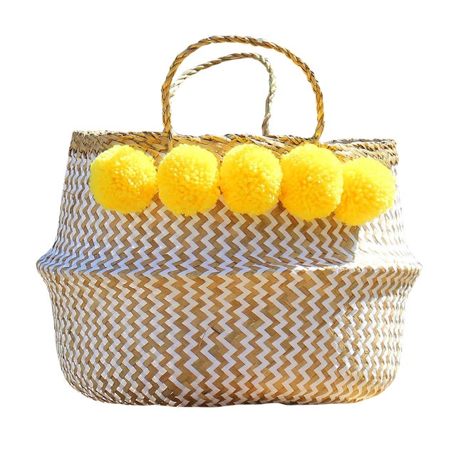 "Brunna ""Borrego X Borneo No. 2"" Boho Basket - Image 1 of 3"