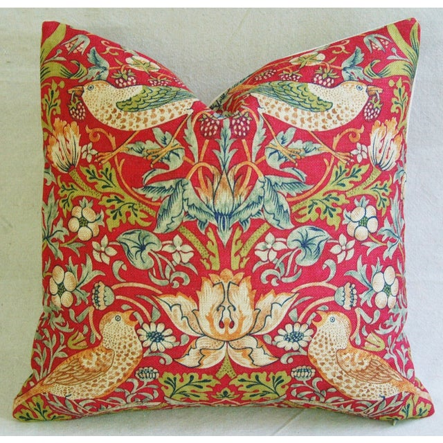 Custom Meadowlarks Linen Feather/Down Pillow - Image 2 of 5
