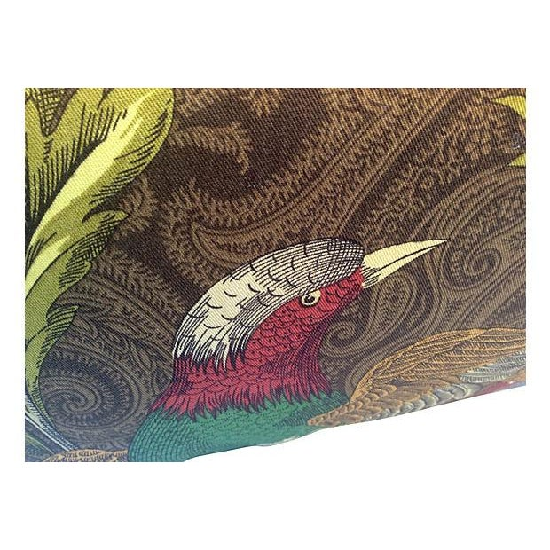 Contemporary English Pheasant Paisley Pillows - A Pair For Sale - Image 3 of 4