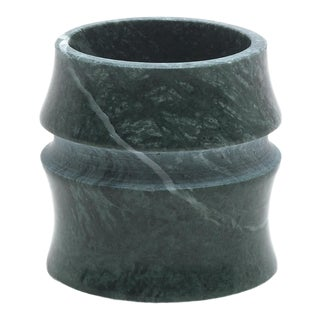 Cup in Green Guatemala Marble by Michele Chiossi For Sale