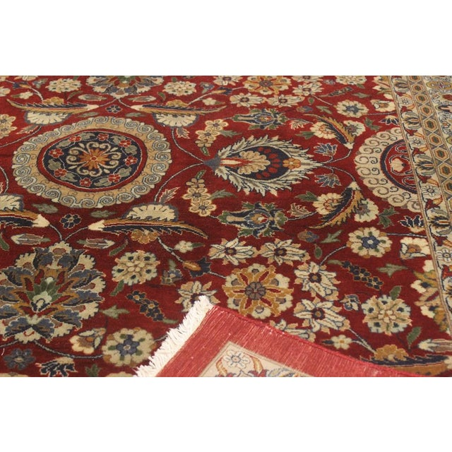 """Heritage Sixta Red & Blue Wool Rug - 12'1"""" x 17'5"""" For Sale In New York - Image 6 of 7"""