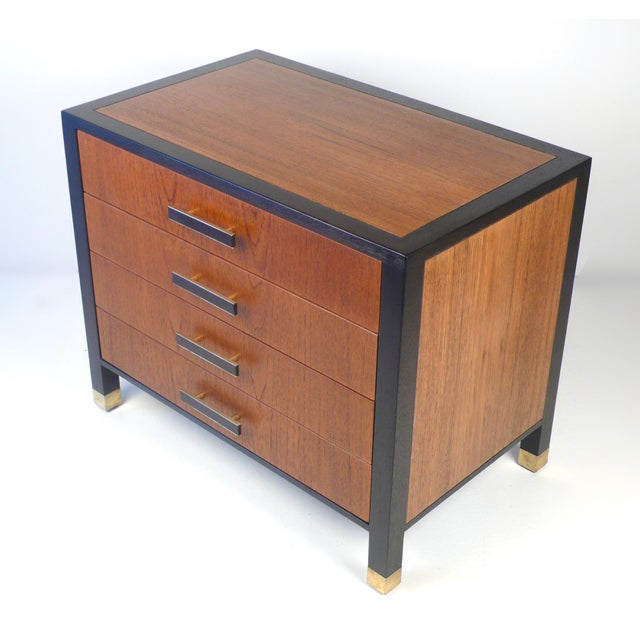 This is a beautiful miniature cabinet by Harvey Probber. It would serve perfectly as a nightstand or an end table. The...