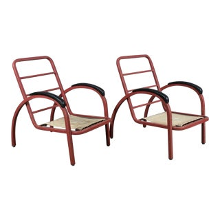 1930s Art Deco Norman Bel Geddes for Simmons Company Armchairs - a Pair For Sale