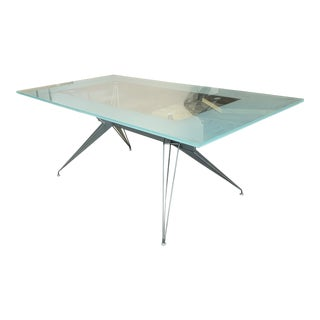 Contemporary Glass and Metal Desk For Sale