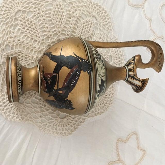 Gold Vintage Numbered Greek Vase Pitcher of Theseus For Sale - Image 8 of 11