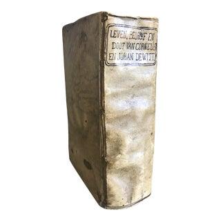 Antique 1677 Dutch Vellum Historical Account of Cornelis & Johan DeWitt, an Important Historical Work For Sale