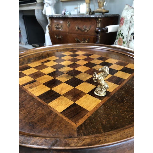 Early 20th Century Early 20th Century English Cherry Chess Table For Sale - Image 5 of 7