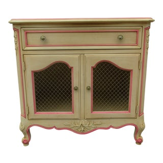 Kindel French Nightstand -Rochelle and Pink For Sale