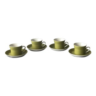 1970s Mikasa Coffee Cups & Saucers by Ben Seibel - Set of 4 For Sale