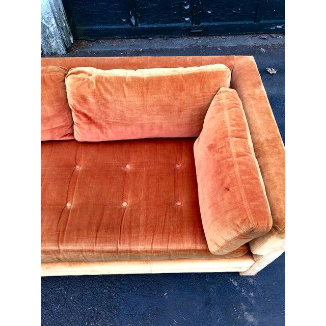 Orange Vintage Mid Century Erwin Lambeth Sofa For Sale - Image 8 of 13