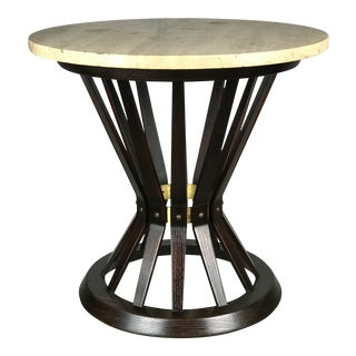 Sheaf of Wheat Side Table by Edward Wormley for Dunbar Travertine Marble Top For Sale