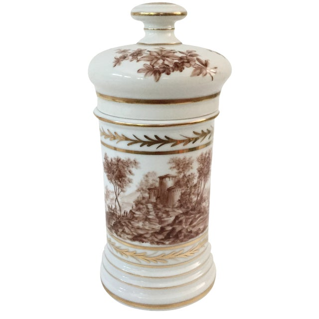 Antique Porcelain Apothecary Jar - Image 1 of 7