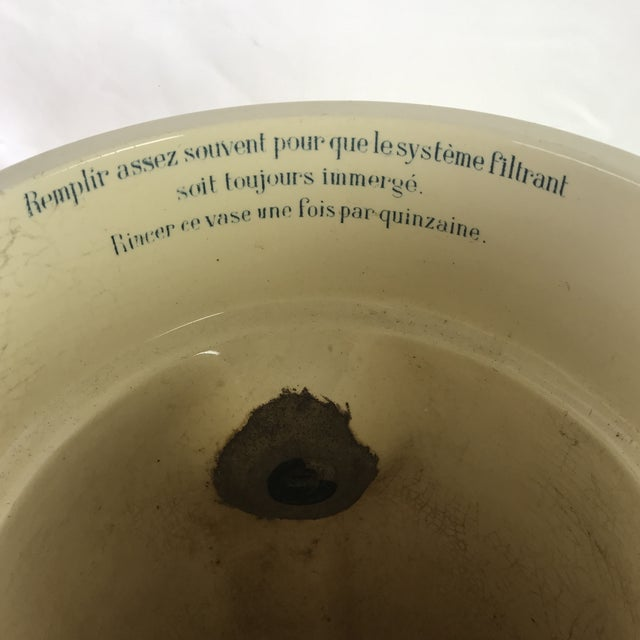 French Creamware Water Filter For Sale - Image 4 of 9