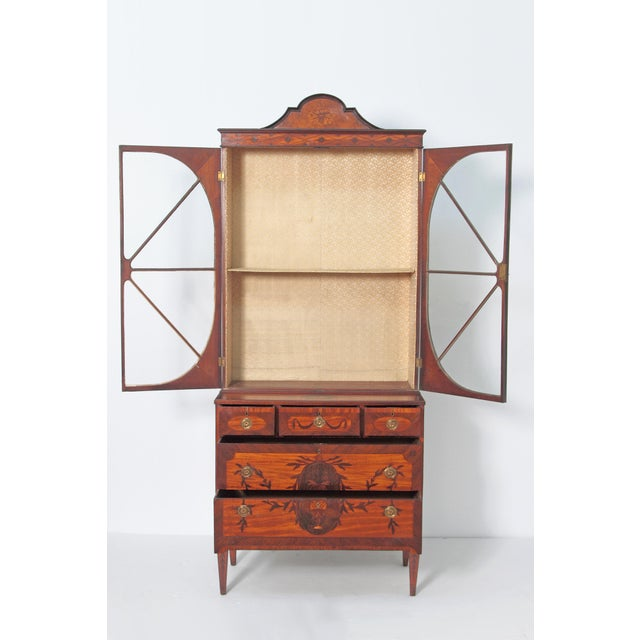 Late 18th Century George III Satinwood and Inlaid Bookcase Attributed to Gillows For Sale - Image 5 of 13
