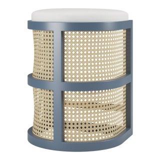 Isabella Counter Stool - Newburyport Blue, Optic White Linen For Sale