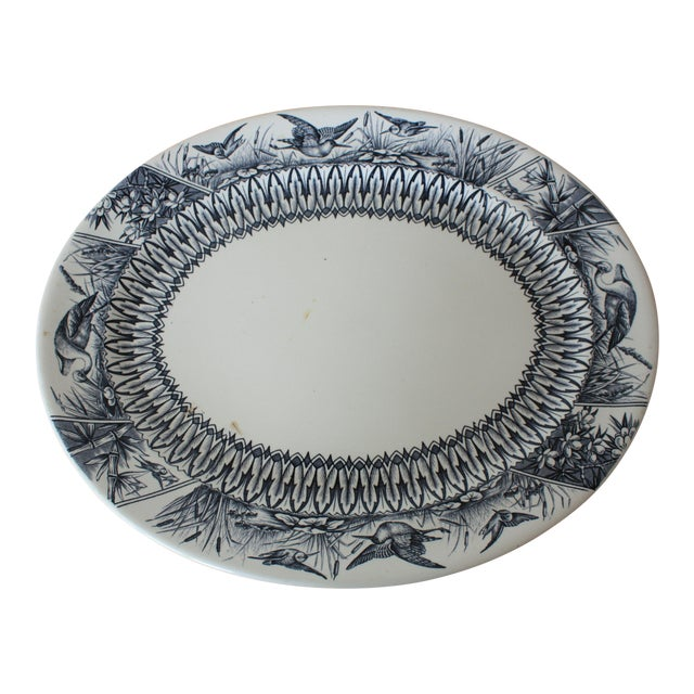 Late 19th Century Antique English Transferware Platter For Sale