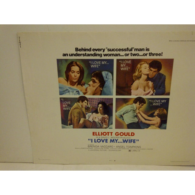 "Mid-Century Modern ""I Love My ... Wife"" Vintage Movie Poster, 1970 For Sale - Image 3 of 6"