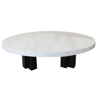Etienne Allemeersch - Coffee Table With Mosaic of Bones - Circa 1975 For Sale