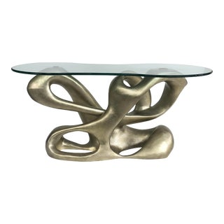 Tony Duquette for Baker Biomorphic Console, Silver Leaf Finish For Sale