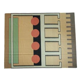 """Vintage Contemporary Kilim Carpet - 9'4"""" X 12' For Sale"""