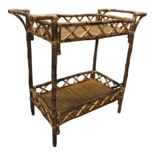Vintage Bamboo Rattan Bar Liquor Bar Cart