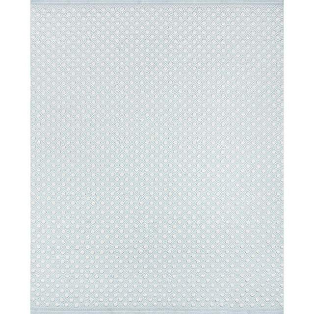 Erin Gates by Momeni Langdon Windsor Blue Hand Woven Wool Area Rug - 5' X 8' For Sale