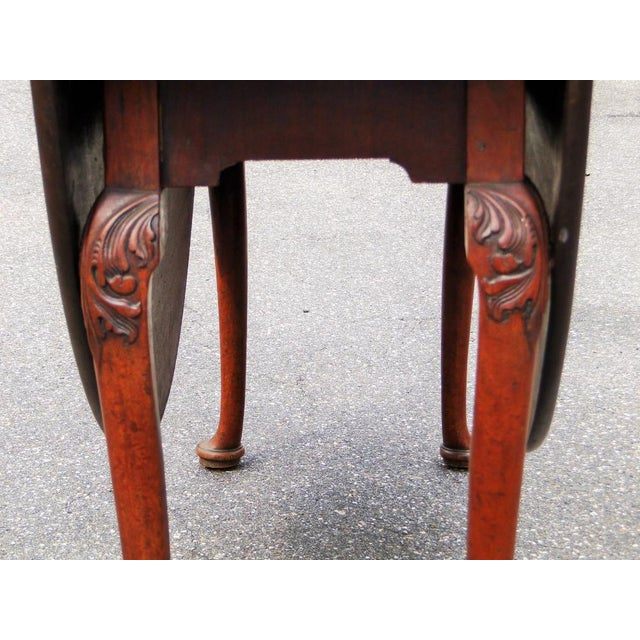 Mid 18th Century Antique Queen Anne Mahogany Dining Table For Sale - Image 4 of 5