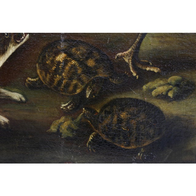 Canvas Oil on Canvas Painting Attributed to Hondecoeter For Sale - Image 7 of 12