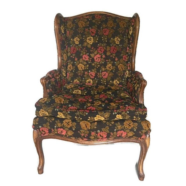 Vintage French Bohemian Wingback Armchair - Image 2 of 9