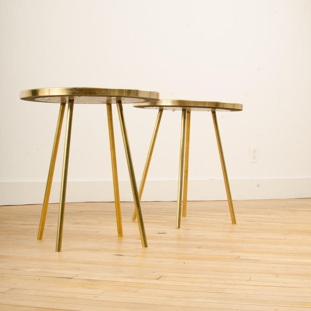 Modern Italian Modern Brass Occasional Tables - a Pair For Sale - Image 3 of 12