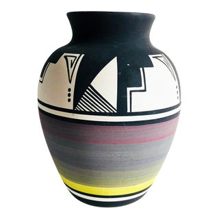 Vintage Native American Pottery Vase For Sale