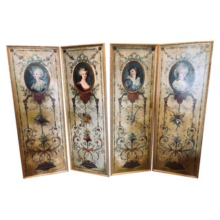 Set of 4 Large French 19th Century Oil on Canvas Wall Panels Tremeau Paintings For Sale