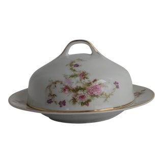 Early 20th Century Hutschenreuther Round Butter Dish With Lid For Sale