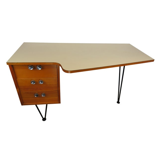 1950's Mid-Century Modern Mengel Writing Desk With Hairpin Legs For Sale - Image 13 of 13