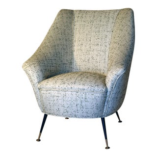 Italian Mid-Century Chair, Manner of Gio Ponti For Sale