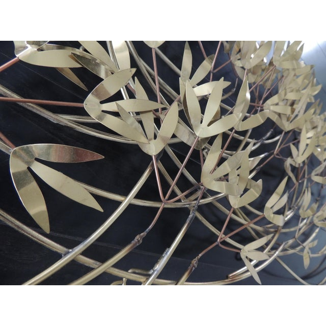 1980s 1980s Mid-Century Modern Curtis Jere Blowing Bamboo Metal Wall Sculpture For Sale - Image 5 of 6