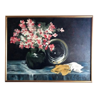 Impressionist Still Life Oil Painting by C. Murphy For Sale