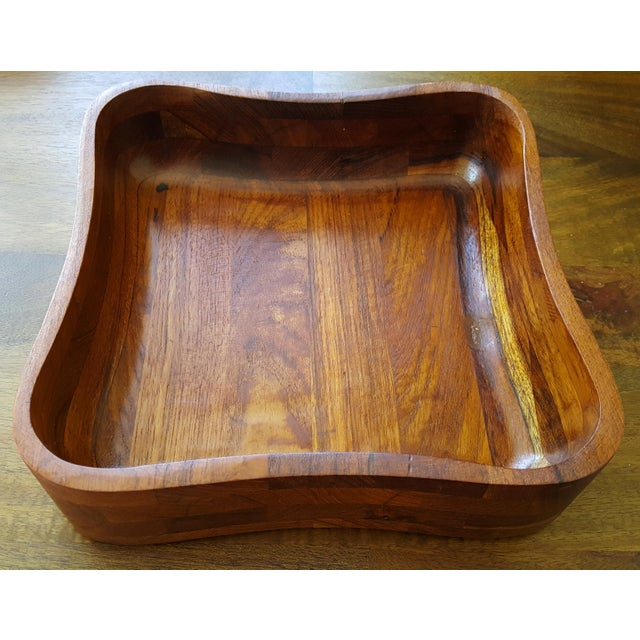 Ernest Sohn Rectangular Siamese Teak Bowl - Image 3 of 11