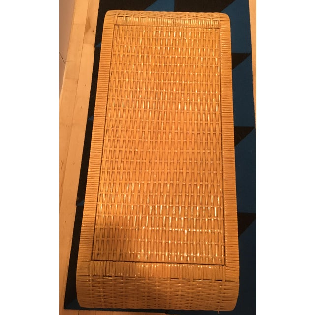 Minimalist Coastal-Style Rattan Console Table For Sale In New York - Image 6 of 12