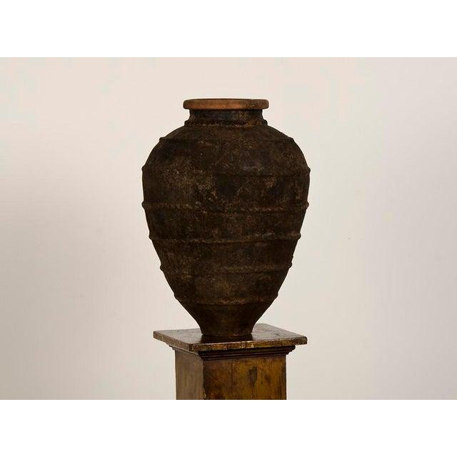 19th Century Italian Raised Decoration Terra Cotta Urn For Sale - Image 4 of 8