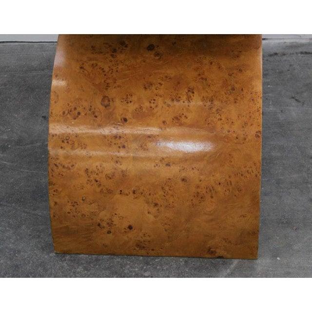 1990s Jay Spectre Modern Burlwood Bench For Sale - Image 5 of 7